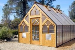 Build your own hoop house for northern climates home for Gothic arch greenhouse plans