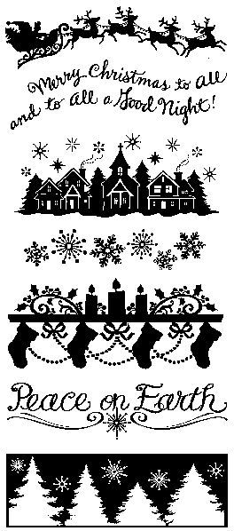 Holiday Silhouette - Clear Stamps