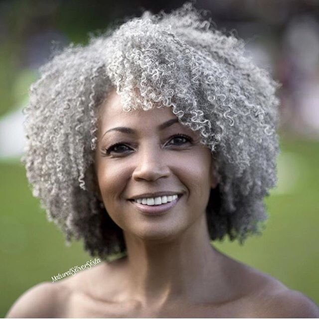 Hope my hair is this gorgeous when I'm old and silver