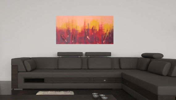 Out of Fire III Landscape Abstract Acrylic Painting by CGCFineArts