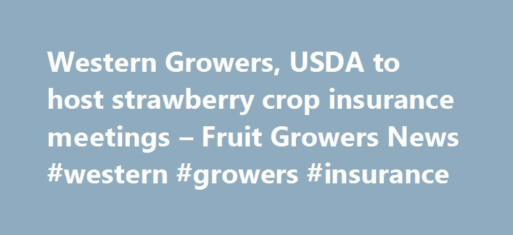 Western Growers, USDA to host strawberry crop insurance meetings – Fruit Growers News #western #growers #insurance http://boston.remmont.com/western-growers-usda-to-host-strawberry-crop-insurance-meetings-fruit-growers-news-western-growers-insurance/  # Western Growers is working closely with USDA s Risk Management Agency to enhance and improve the current strawberry crop insurance program. In the latest effort to tailor the program, the two organizations have planned two informational…