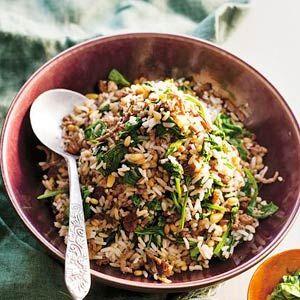 Recept - Pilav met gehakt, rozijnen en spinazie - Allerhande
