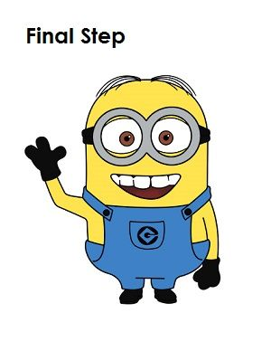How to Draw a Minion Step 20