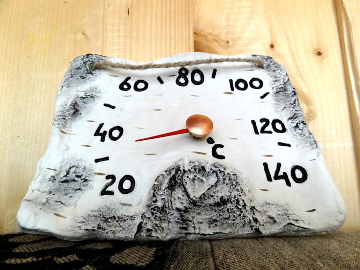 Birch sauna thermometer is made of high burned ceramic, which is very resistant to heat of the steam room.