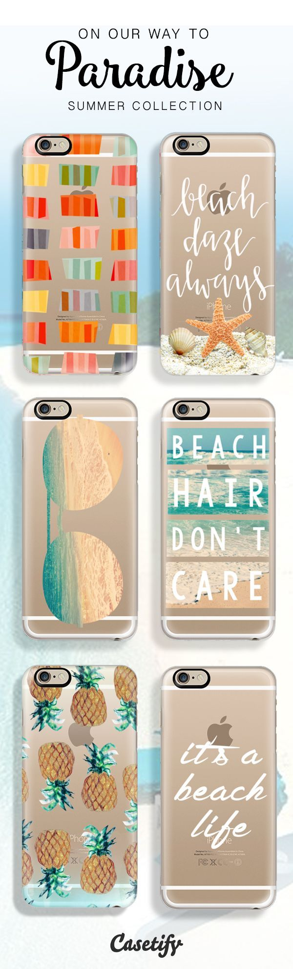 In Need of Some Vitamin Sea! Shop our beach ready phonecase designs now! Click Here: www.casetify.com/...