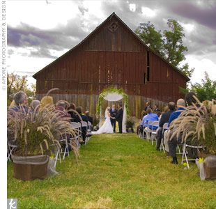 barn ceremony set up 2