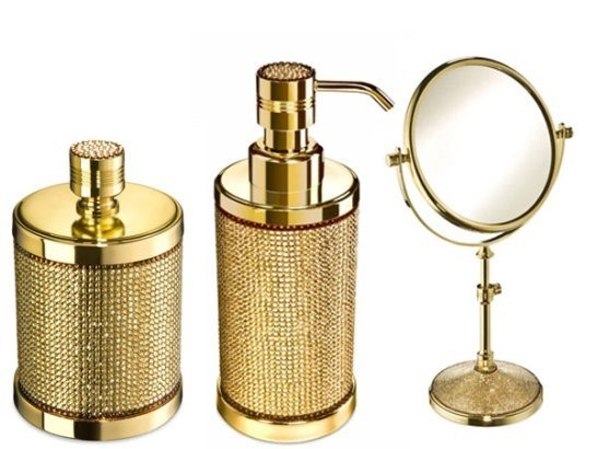 Contemporary Black And Gold Bathroom Accessories Y For Decorating