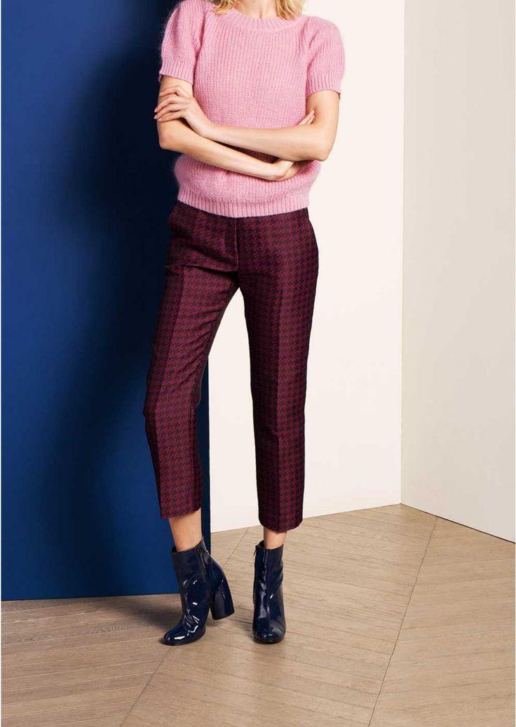 Pantalon jacquard prune - femme - tara jarmon 2