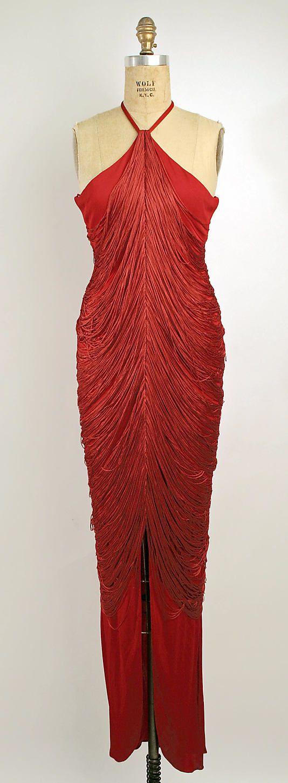Bill Blass Ltd. (American, founded 1970). Dress, Evening. Bill Blass (American, 1922–2002). American, 1985. The Metropolitan Museum of Art, New York. Gift of Mrs. Anne Markley Spivak, 1994 (1994.279.7). #reddress