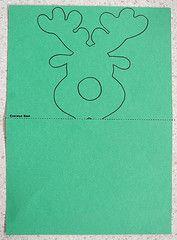 Lollypop Nose Reindeer - drawing your shape