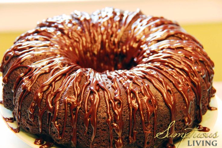 choc kahl cake drizzled