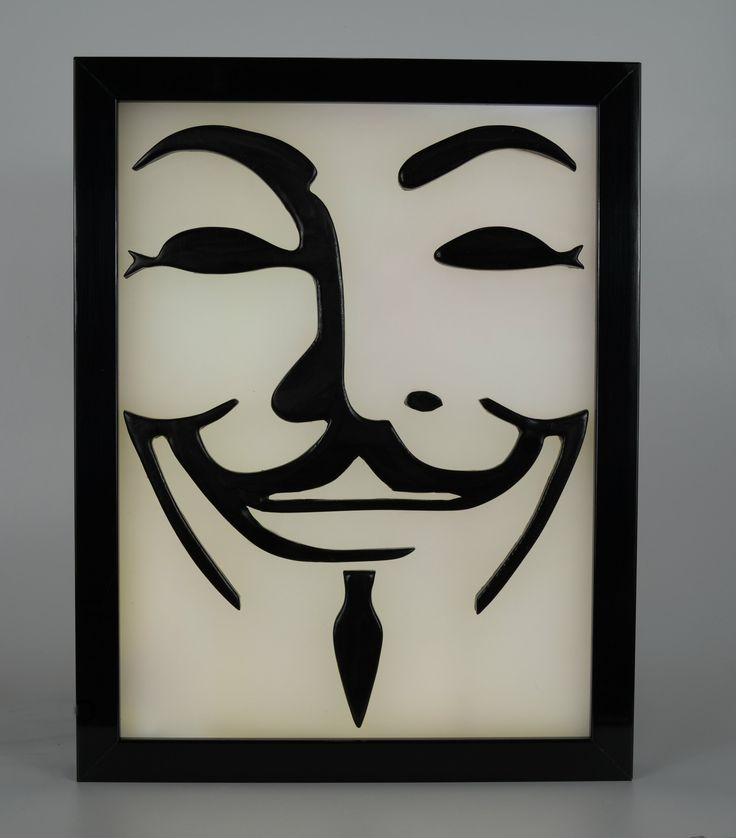 Guy Fawkes Mask 3D Led Light Box Wax Painting. The Guy Fawkes mask is a stylised depiction of Guy Fawkes, the best-known member of the Gunpowder Plot, an attempt to blow up the House of Lords in London in 1605. The use of a mask on an effigy has long roots as part of Guy Fawkes Night, also known as Bonfire Night. A stylised portrayal of Guys face, designed by illustrator David Lloyd, came to represent broader protest after it was used as a major plot element in V for Vendetta. After...