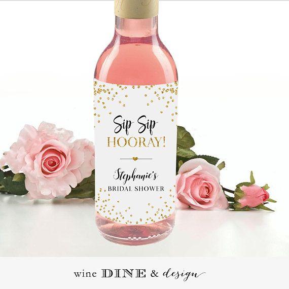 Personalized Bridal Shower Mini Wine Or Large Wine And Etsy Bridal Shower Labels Mini Wine Bottle Favors Wine Bottle Favors