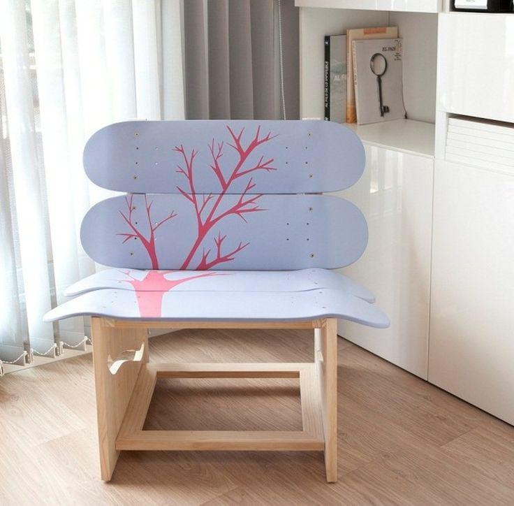 die besten 25 skateboard m bel ideen auf pinterest skate kunst loft ideen und innovation. Black Bedroom Furniture Sets. Home Design Ideas