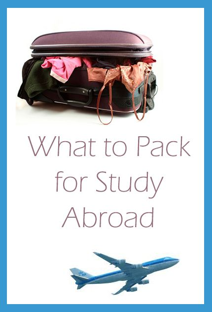 Helpful guide to packing when you study abroad!