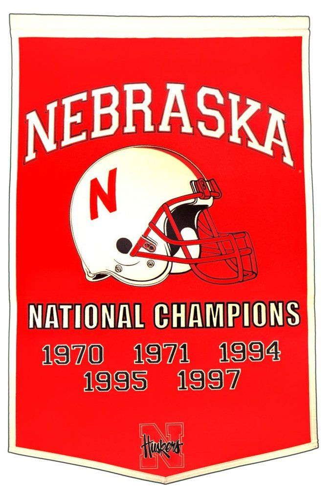 Nebraska Cornhuskers Banner 24x36 Wool Dynasty Football