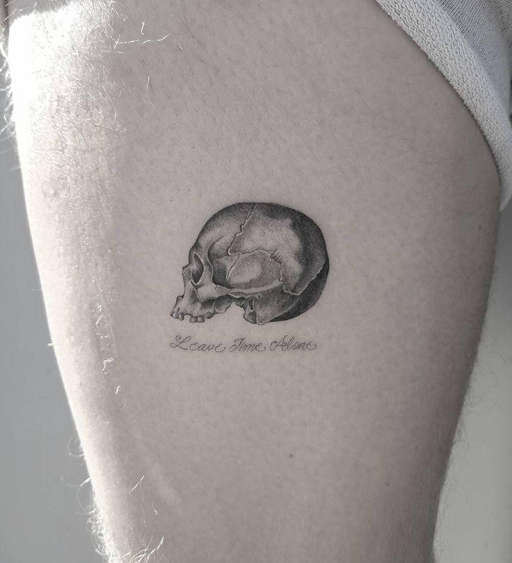 25+ Best Ideas About Small Skull Tattoo On Pinterest