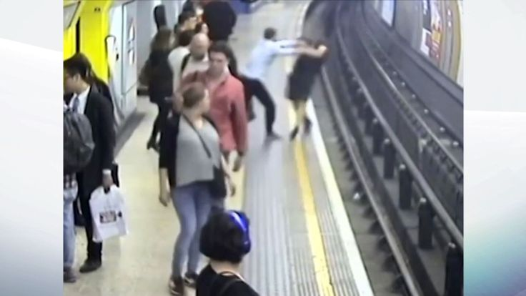 Man jailed for pushing victim onto Tube track - Sky News