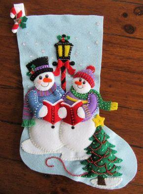 Familia de nieve Bucilla villancicos por MissingSockStitchery