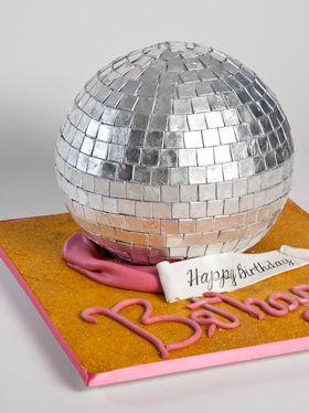 Disco ball cake  by Sugar Couture Custom Cakes