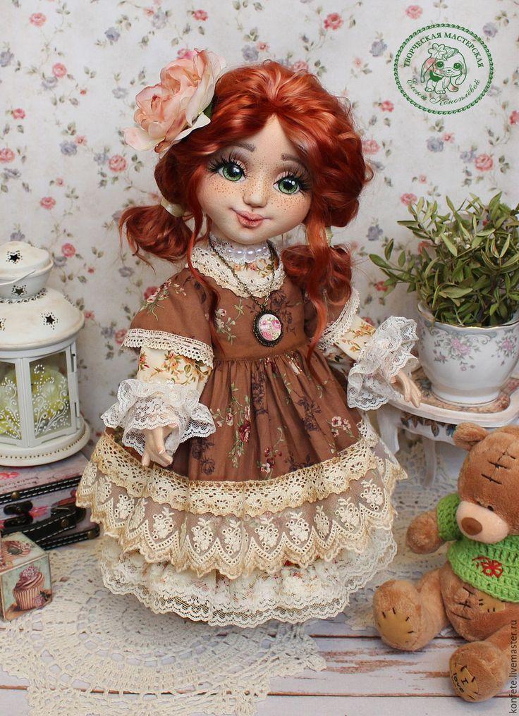 Купить Кукла Элиза текстильная интерьерная с объемным личиком - подарок девушке, подарок коллеге