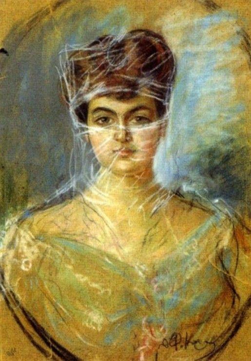 Woman with transparent veil
