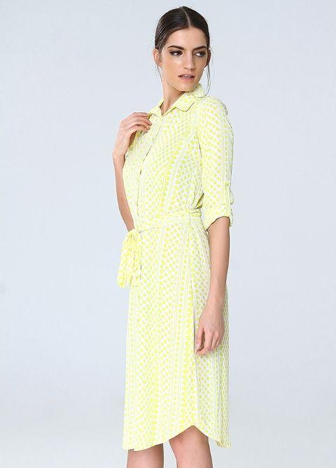 Rengarenk Bahar Elbise Gömlek 8688 | Mixray.com