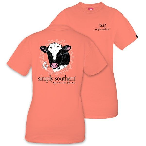 Simply Southern® Ladies'  Poppy Holstein Cow T-Shirt Style: COW