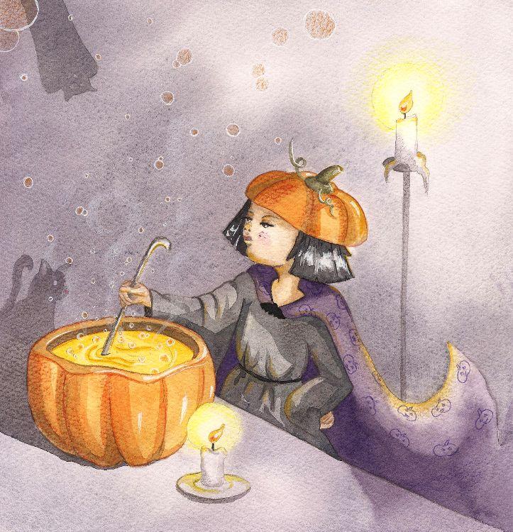 Petite sorcière d'Halloween - Christelle Lecuret