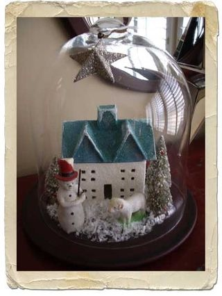 vintage decoration Cool idea for our old Christmas village