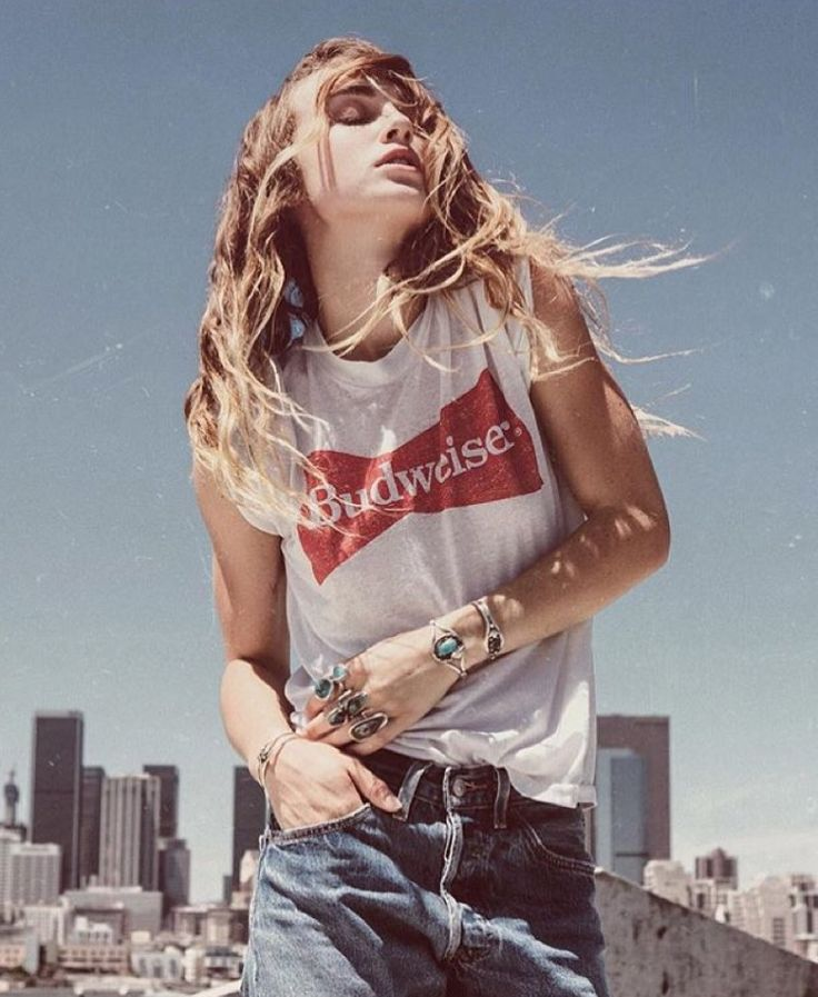 ZELLA DAY in our vintage BUD IS LOVE tee