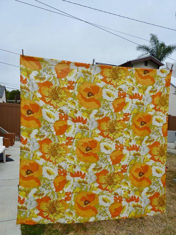vera neumann floral shower curtain orange and yellow flower pattern rh pinterest com