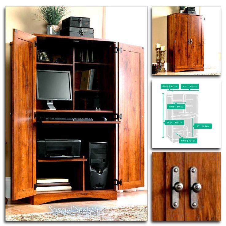 Sauder Computer Desk Storage Furniture Armoire Home Office Workstation Hutch NEW…