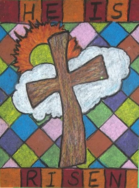 he is risen......includes six drawings for Easter art projects.
