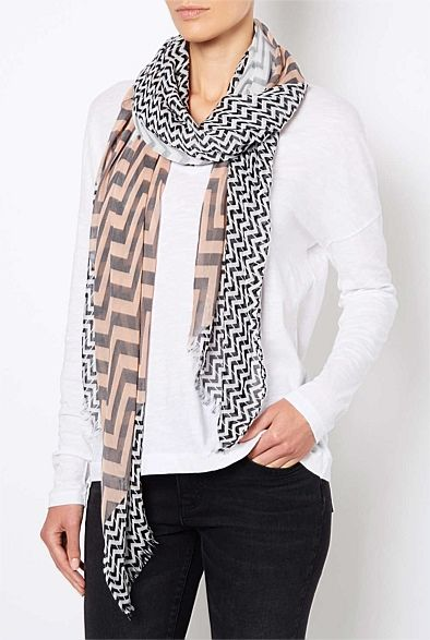 Hats Scarves & Gloves - Zig Zag Scrf