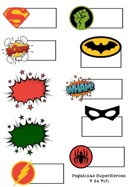 Pegatinas gratis de Super Heroes y Peppa Pig para la vuelta al cole | Blog F de Fifi: manualidades, DIY, maternidad, decoración, niños.