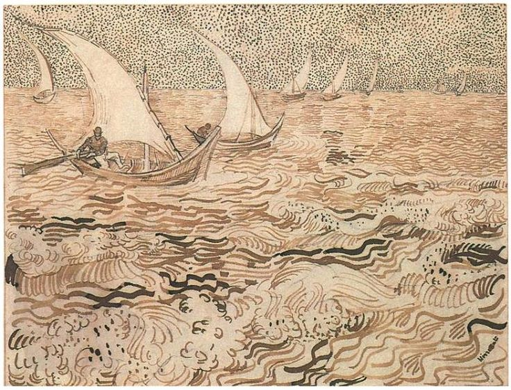 Vincent van Gogh, Fishing Boats