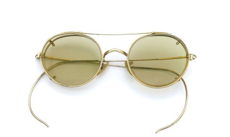 American Optical vintage [SQUIRE 1/10-12KGF with CLIPON Light-Brown-Lense]