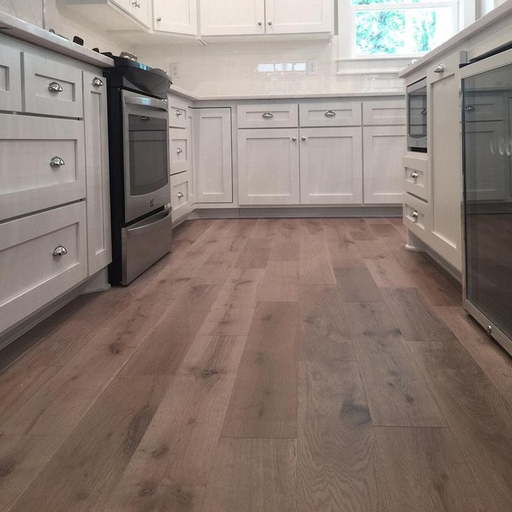 BuildDirect – Hardwood - Wire Brushed European French Oak Collection – Gray Tone - Kitchen View