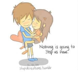 nothing is going to stop us love cute cartoon couple ...