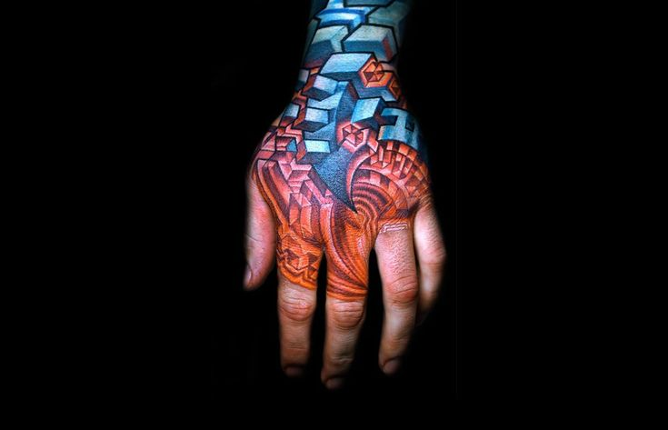Awesome biomechanical tattoos.