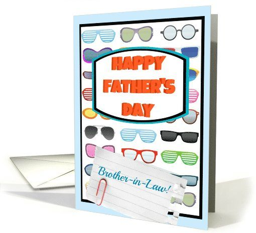 Happy Father's Day Brother-in-Law, cool sunglasses! card