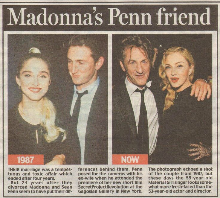 Bad Boys With Sean Penn: Madonna, Pose For The Camera, Bad Boys