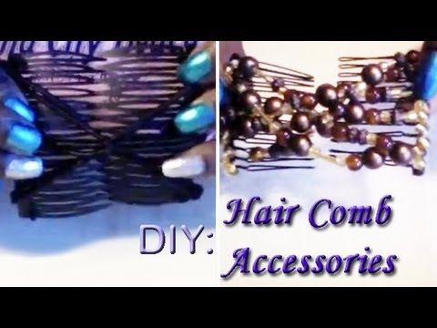 how to make african butterfly hair combs