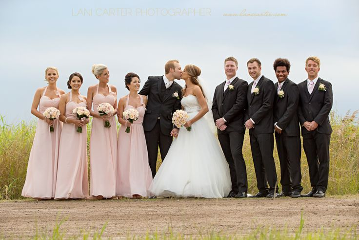 Bridal party on a dirt road. www.lanicarter.com