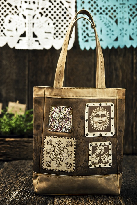 Mi Shopper Bag Patchwork en Piel
