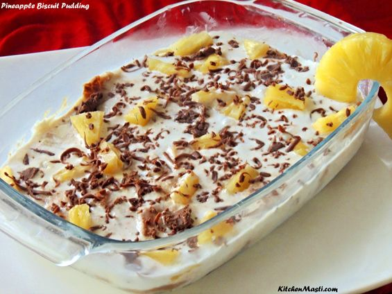 Pineapple Biscuit Pudding