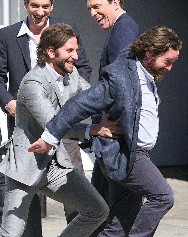 Bradley Cooper And Zach Galifianakis Have A Ticklefest... this is AMAZING @Jennifer Milsaps Flower