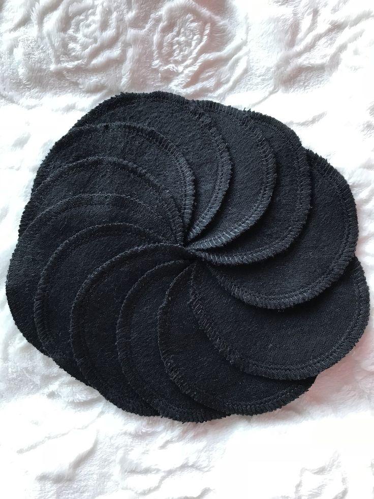 Black Flannelette Reusable Face Wipes Eco Friendly Face