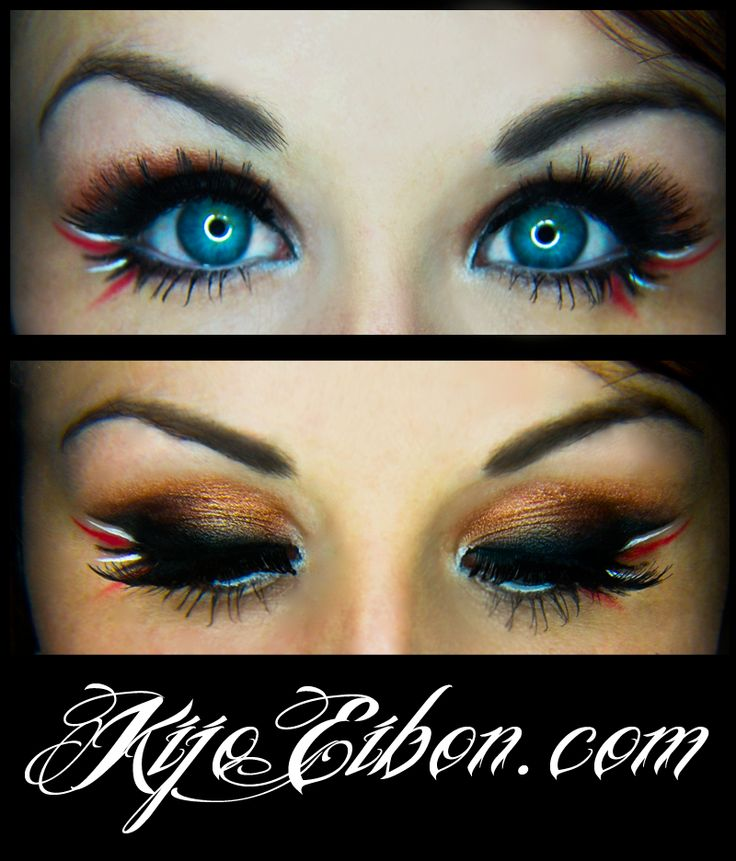 Pirate Makeup- I like the red white and black lines